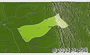 Physical 3D Map of Gyobingauk, darken
