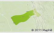 Physical 3D Map of Gyobingauk, lighten