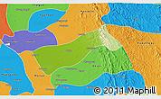 Physical 3D Map of Gyobingauk, political outside