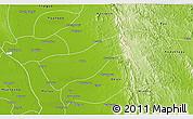 Physical 3D Map of Gyobingauk
