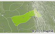 Physical 3D Map of Gyobingauk, semi-desaturated
