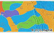 Political 3D Map of Gyobingauk