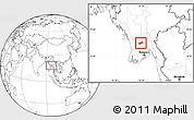 Blank Location Map of Gyobingauk
