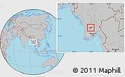 Gray Location Map of Gyobingauk