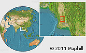 Satellite Location Map of Gyobingauk