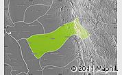 Physical Map of Gyobingauk, desaturated