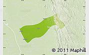 Physical Map of Gyobingauk, lighten