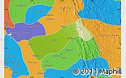 Physical Map of Gyobingauk, political outside