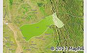 Physical Map of Gyobingauk, satellite outside