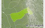 Physical Map of Gyobingauk, semi-desaturated
