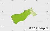 Physical Map of Gyobingauk, single color outside