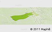 Physical Panoramic Map of Gyobingauk, lighten
