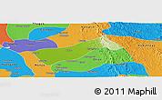 Physical Panoramic Map of Gyobingauk, political outside
