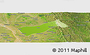 Physical Panoramic Map of Gyobingauk, satellite outside
