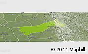 Physical Panoramic Map of Gyobingauk, semi-desaturated