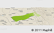 Physical Panoramic Map of Gyobingauk, shaded relief outside