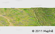 Satellite Panoramic Map of Gyobingauk