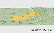 Savanna Style Panoramic Map of Gyobingauk