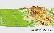 Physical Panoramic Map of Kyaukki