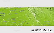 Physical Panoramic Map of Letpatan