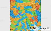 Political Map of Bago (Pegu)