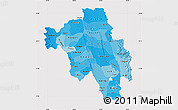 Political Shades Map of Bago (Pegu), cropped outside
