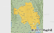 Savanna Style Map of Bago (Pegu)