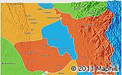 Political 3D Map of Nyaungiebin