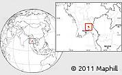 Blank Location Map of Nyaungiebin