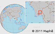 Gray Location Map of Nyaungiebin