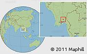 Savanna Style Location Map of Nyaungiebin