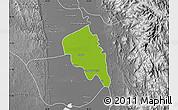 Physical Map of Nyaungiebin, desaturated