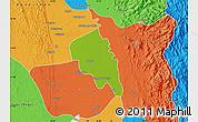 Physical Map of Nyaungiebin, political outside