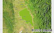 Physical Map of Nyaungiebin, satellite outside