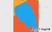 Political Simple Map of Nyaungiebin