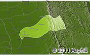 Physical 3D Map of Okpo, darken