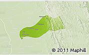 Physical 3D Map of Okpo, lighten