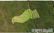 Satellite 3D Map of Okpo, darken