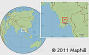 Savanna Style Location Map of Okpo