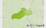 Physical Map of Okpo, lighten