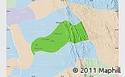 Political Map of Okpo, lighten
