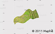 Satellite Map of Okpo, cropped outside