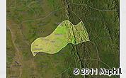 Satellite Map of Okpo, darken