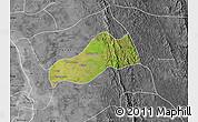 Satellite Map of Okpo, desaturated