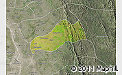 Satellite Map of Okpo, semi-desaturated