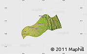 Satellite Map of Okpo, single color outside