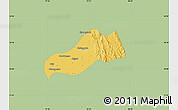 Savanna Style Map of Okpo, single color outside