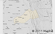 Shaded Relief Map of Okpo, desaturated