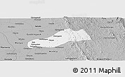 Gray Panoramic Map of Okpo