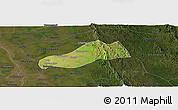 Satellite Panoramic Map of Okpo, darken